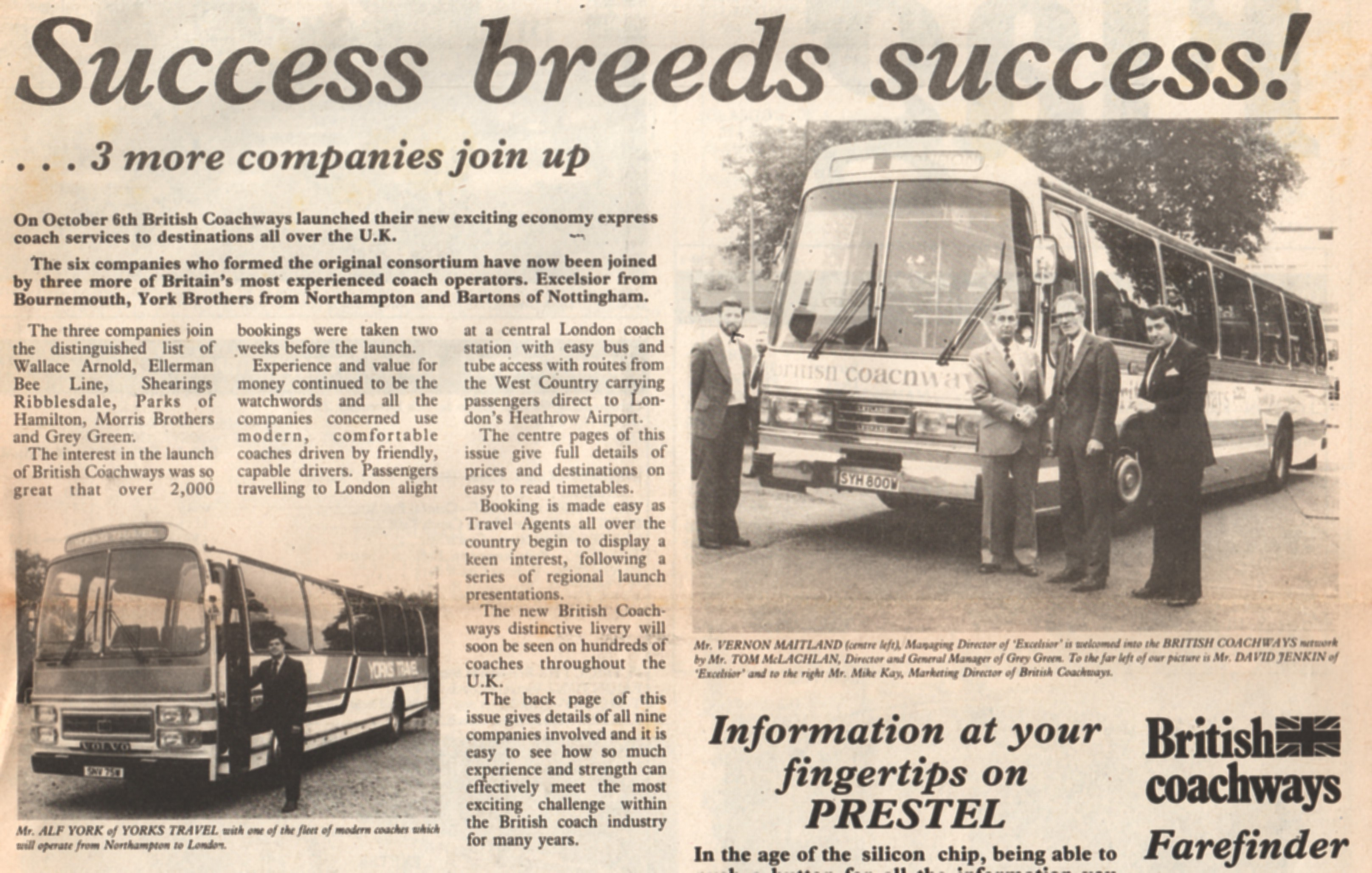News item from Ride Express number 2 October 1980