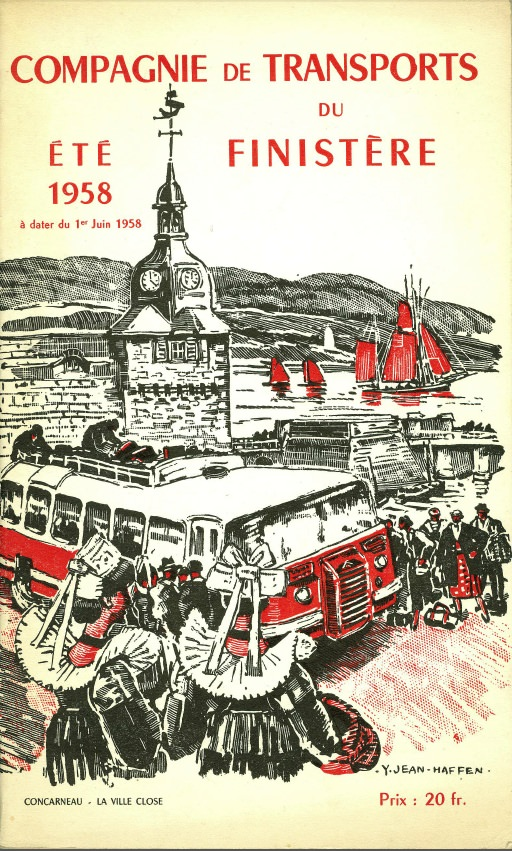 cover of 1958 CTF timetable