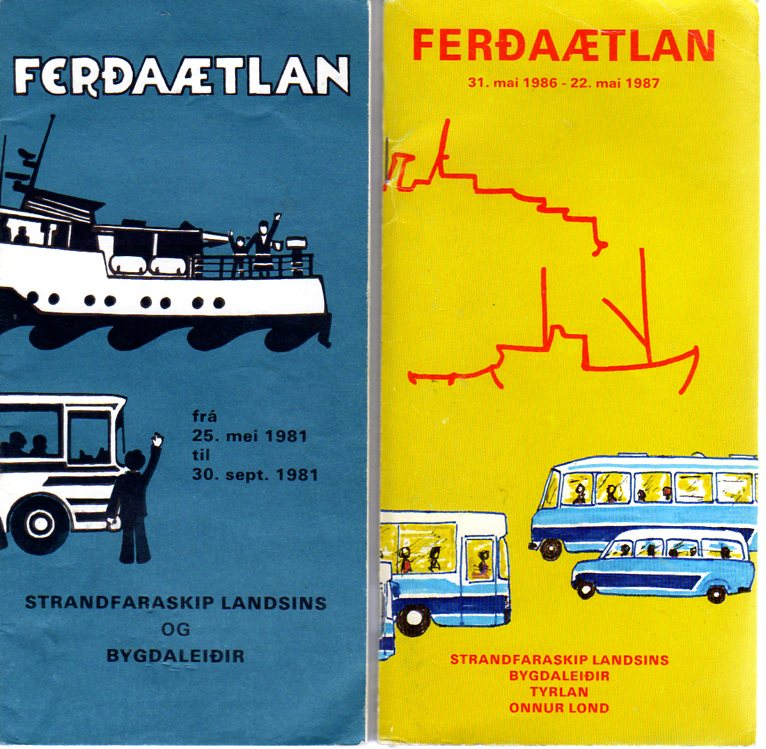 timetable covers 1981 and 1986