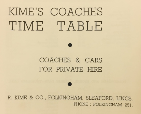 cover of timetable booklet