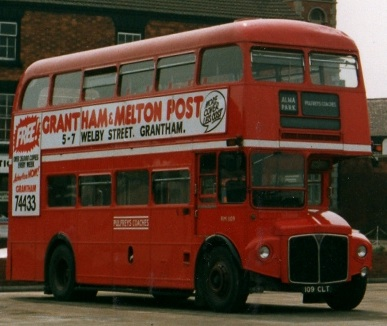 Routemaster of Pulfrey of Grantham in 1987