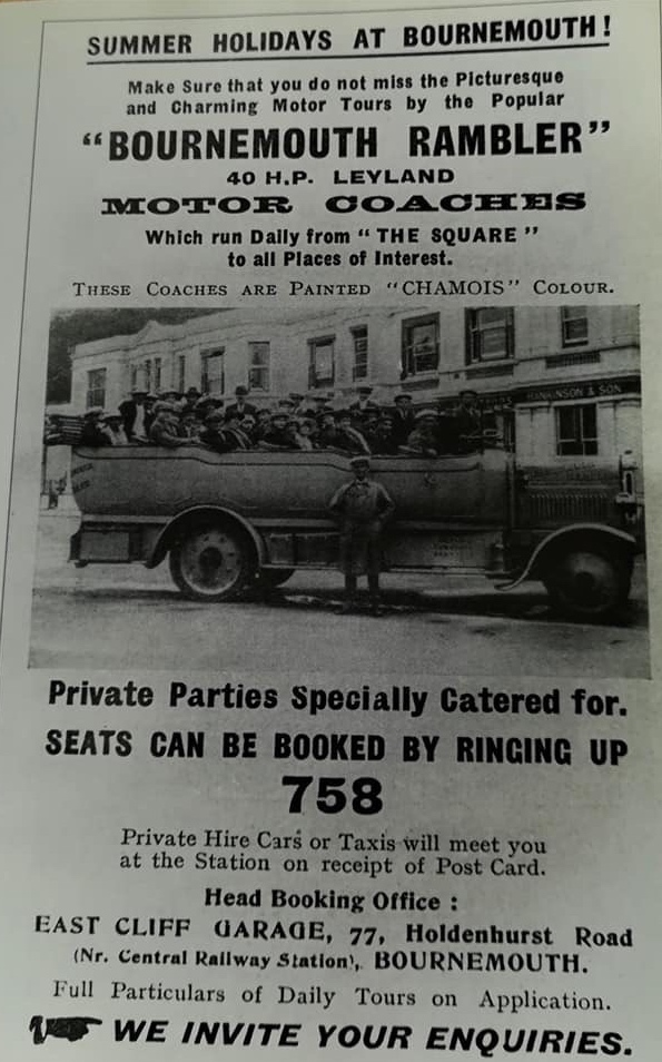 Advertisement for Rambler Coaches