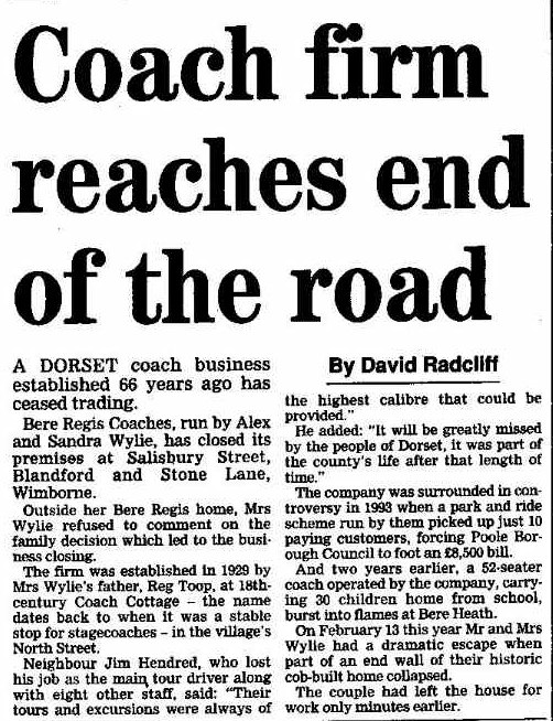 press report - the end 1995