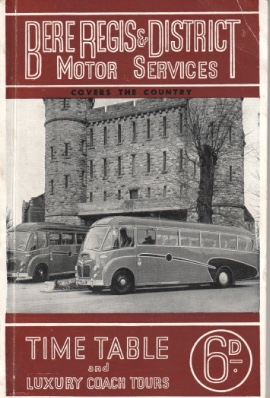 cover of  1956 timetable book