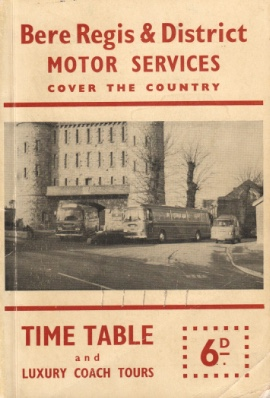 cover of  1961 timetable book