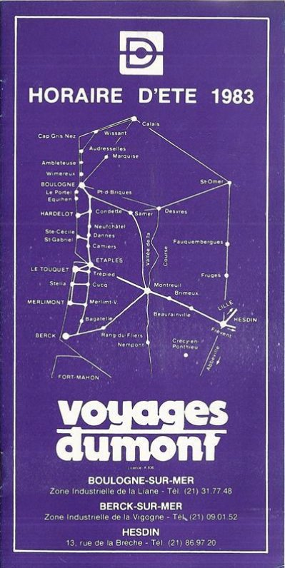 1983 timetable cover