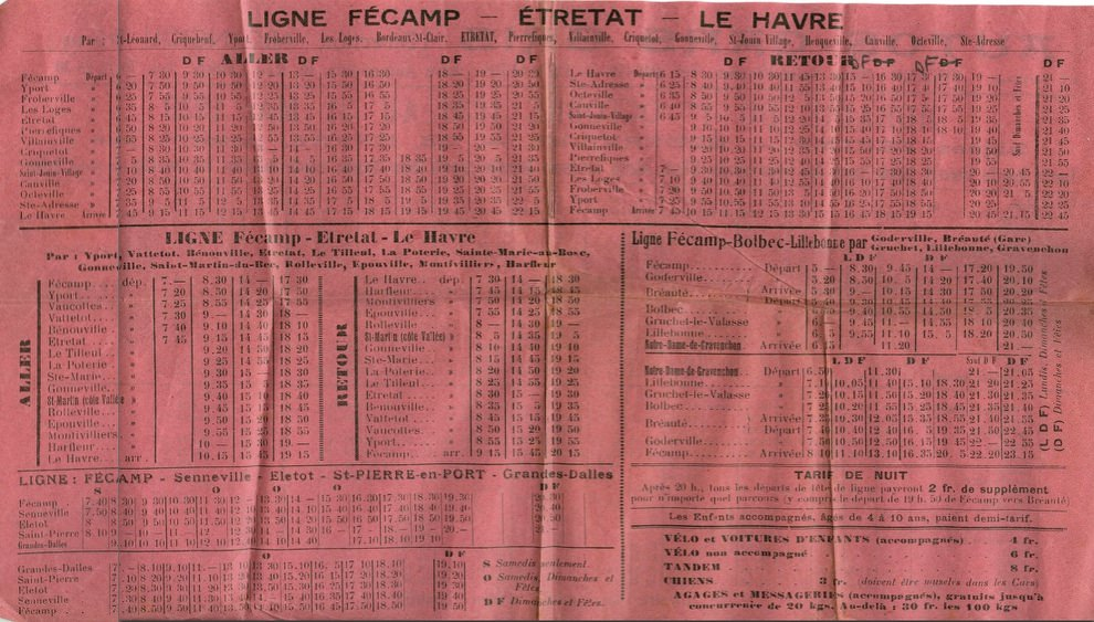 1938 timetable page 2