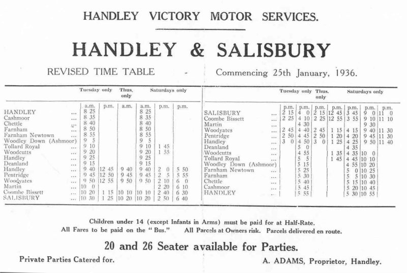 1936 timetable