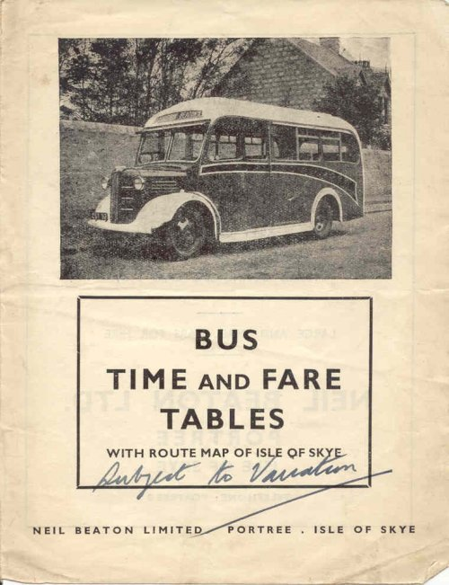 Neil Beaton timetable cover