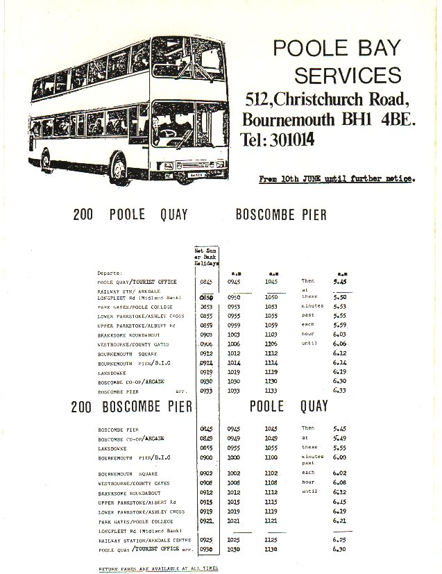 1987 timetable