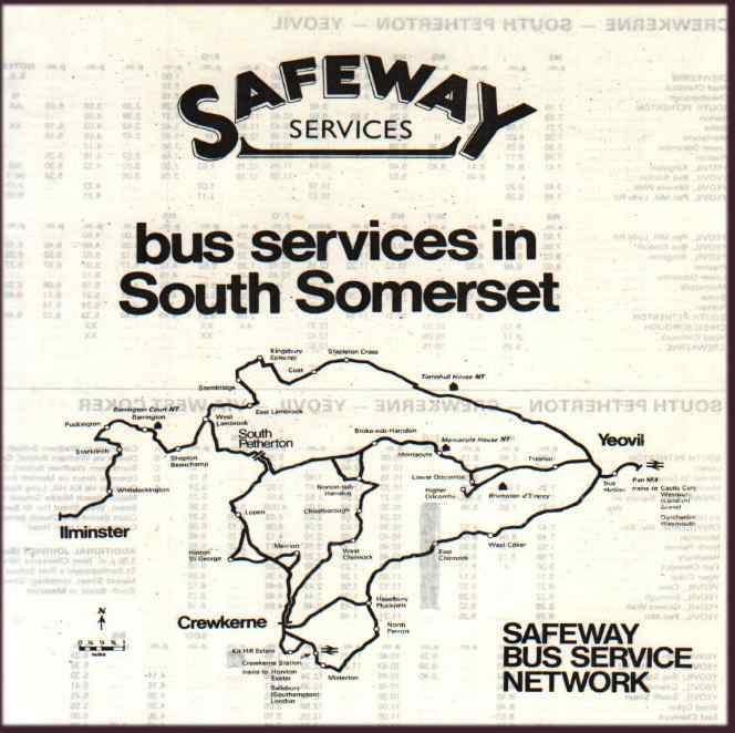 1981 timetable and map