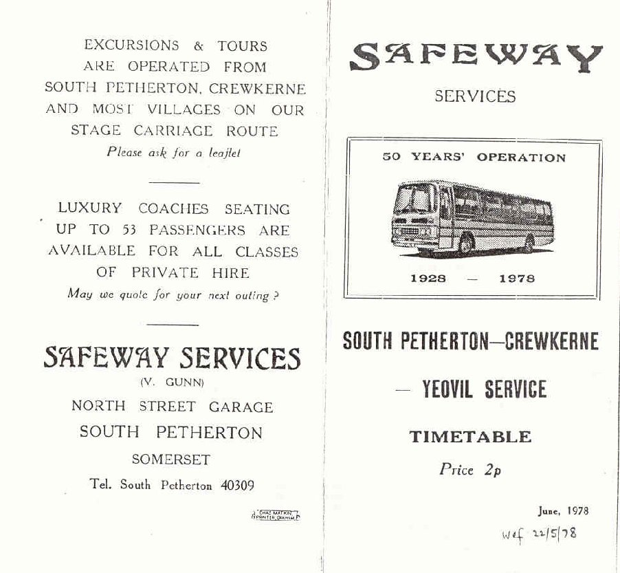 1978 timetable cover