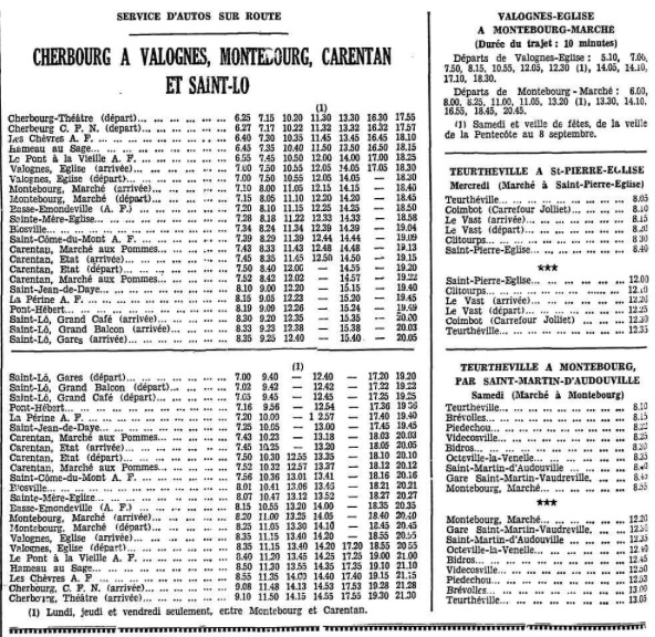 second part of October 1933 SGTD timetable