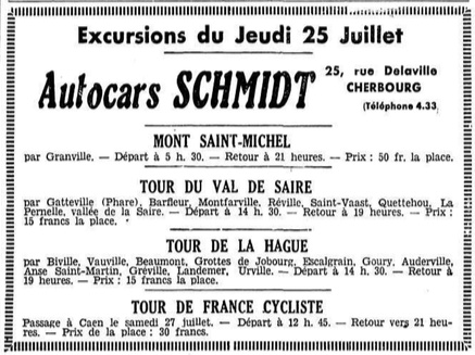 July 1935 excursions