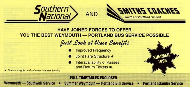 cover of joint timetable 1995