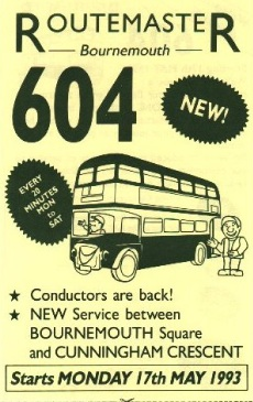 Routemaster Bournemouth leaflet